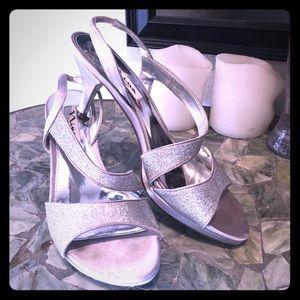 Silver Nina heels